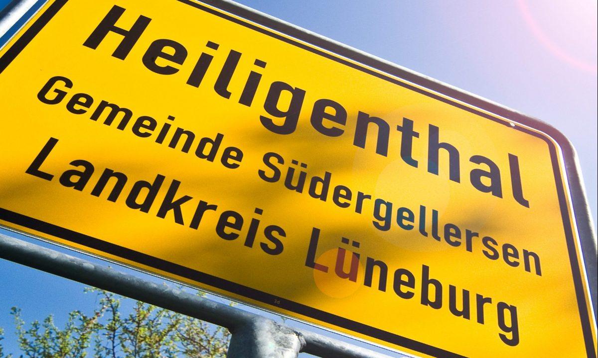 Ortsschild Heiligenthal
